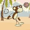 mono jugando al fútbol
