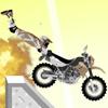 acrobacias peligrosas en una motocicleta