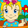 lovely flower baby coloring