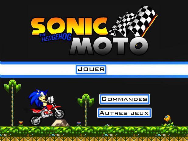 Jeux Sonic moto cross