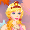 un vestido de princesa y el maquillaje