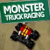 camiones monstruo en la pista