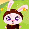um vestido de coelho beb�