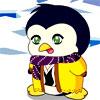 un pinguino vestito da bambino