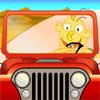 Jeux la voiture du petit homme jaune