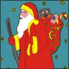 cor neste Papai Noel