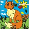 colorear un zorro