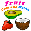 frutas para colorir mania