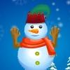 D�coration d'un bonhomme de neige