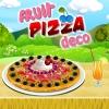 Une pizza avec des fruits
