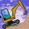 Tracteur dans un chantier en construction