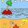 Coloriage d'une plage