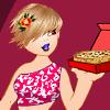 Habille la livreuse de pizza