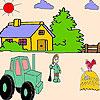 Coloriage d'un fermier