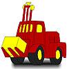 Coloriage d'un tracteur rouge