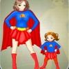 Habillage de la Super maman et de sa fille