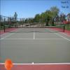 Cliques sur la balle de tennis