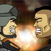 Combat entre deux ennemis