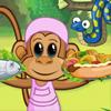 Diner d'un chef singe