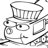 Un coloriage de train