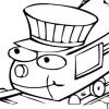 Un coloriage de train
