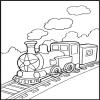 Un autre coloriage de train