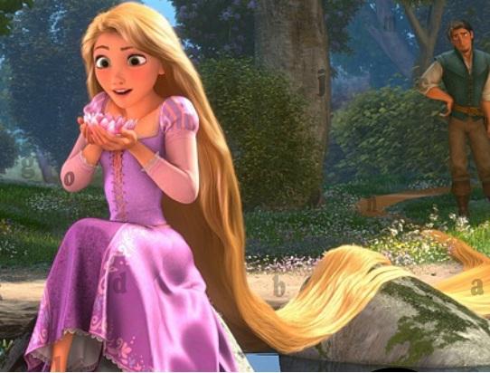 Raiponce lettres cach es jeux gratuits et en ligne avec - La princesse raiponce ...